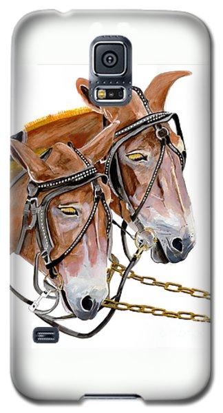Two Mules - Enhanced Color - Farmer's Friend Galaxy S5 Case