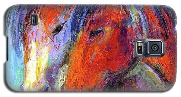 Two Mustang Horses Painting Galaxy S5 Case