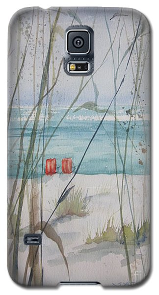 Two Orange Chairs Galaxy S5 Case