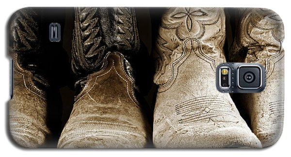 Two Pair Of Cowboy Boots Are Better Than One Galaxy S5 Case by Lincoln Rogers
