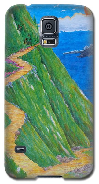 Galaxy S5 Case featuring the painting Two Paths by Matt Konar