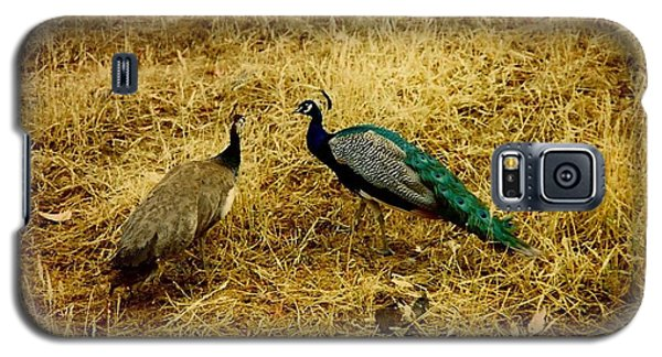Two Peacocks Yaking Galaxy S5 Case by Amazing Photographs AKA Christian Wilson
