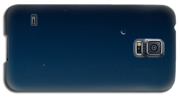 Two Planets And A Moon Galaxy S5 Case by Carolina Liechtenstein