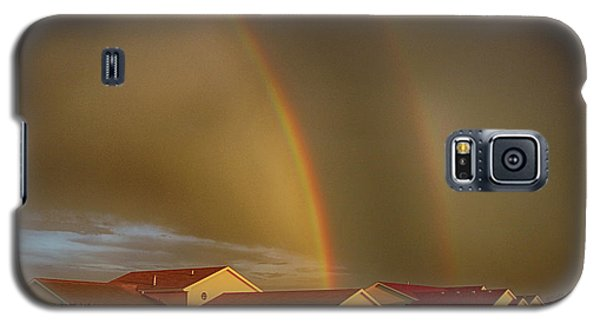 Galaxy S5 Case featuring the photograph Two Rainbows Plus Two Pots Of Gold by Jerome Lynch