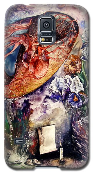 Galaxy S5 Case featuring the painting Two Realities by Mikhail Savchenko