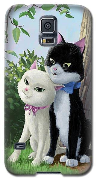 Two Romantic Cats In Love Galaxy S5 Case