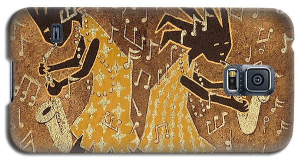 Two Sax Players Galaxy S5 Case by Katherine Young-Beck