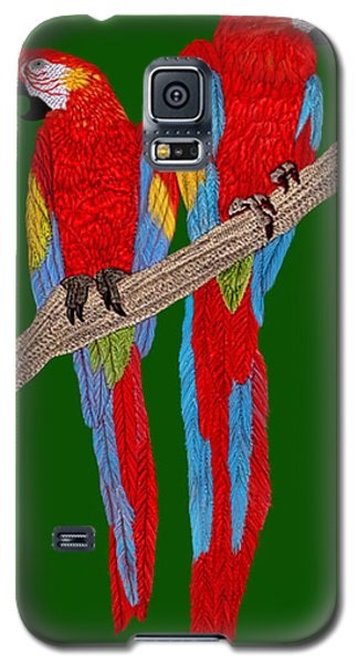 Two Scarlet Macaw Galaxy S5 Case