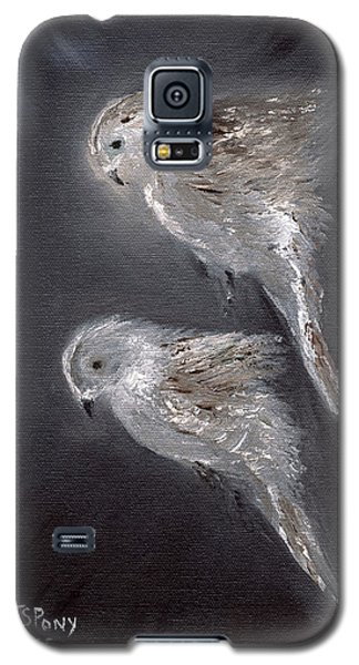 Galaxy S5 Case featuring the painting Two Spirits In The Night by Barbie Batson