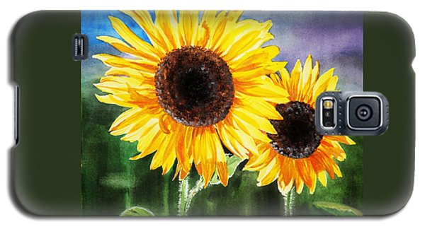 Two Suns Sunflowers Galaxy S5 Case