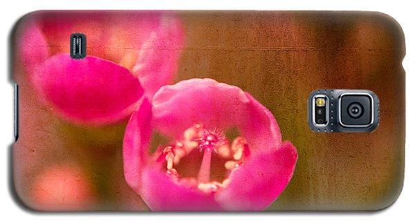 Two Tiny Pink Flowers Galaxy S5 Case by Takeshi Okada