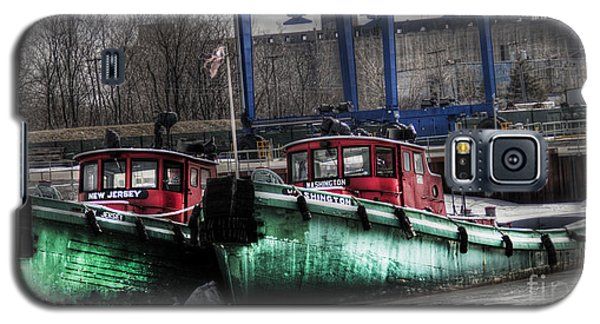 Galaxy S5 Case featuring the photograph Two Tugs by Jim Lepard
