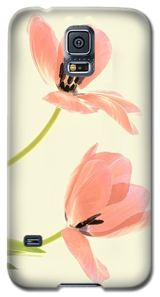 Two Tulips In Pink Transparency Galaxy S5 Case