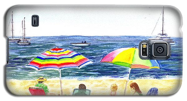 Two Umbrellas On The Beach California  Galaxy S5 Case