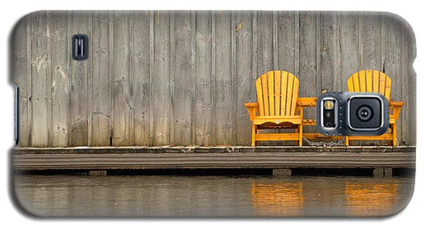 Two Wooden Chairs On An Old Dock Galaxy S5 Case by Les Palenik