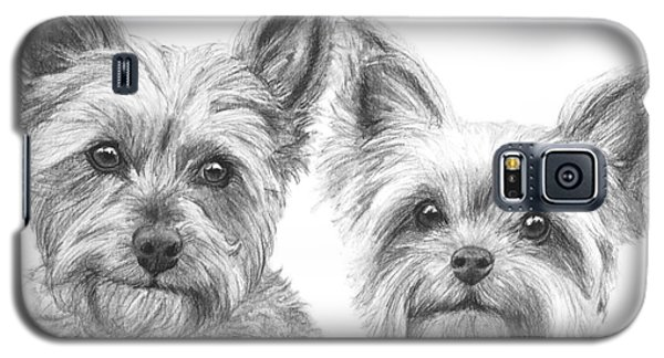 Two Yorkshire Terriers In Charcoal Galaxy S5 Case