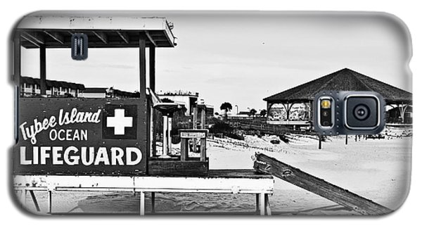 Tybee Island Lifeguard Stand Galaxy S5 Case by Melissa Sherbon