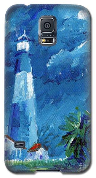 Tybee Lighthouse Night Mini Galaxy S5 Case by Doris Blessington