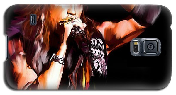 Steven Tyler Galaxy S5 Case -  Steven Tyler  Tyler II by Iconic Images Art Gallery David Pucciarelli