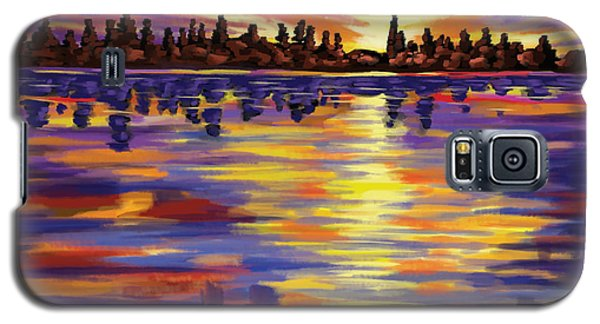 Galaxy S5 Case featuring the painting Tyler's Sunrise by Tim Gilliland