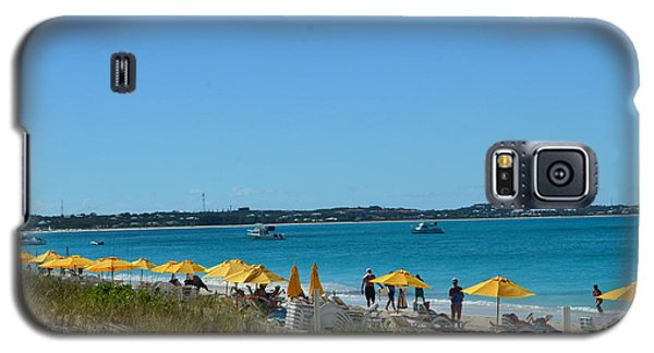 Galaxy S5 Case featuring the photograph Typical Beach Day by Judy Wolinsky