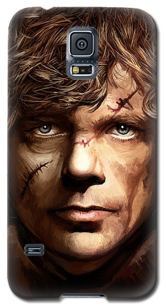 Galaxy S5 Case featuring the painting Tyrion Lannister - Peter Dinklage Game Of Thrones Artwork 2 by Sheraz A