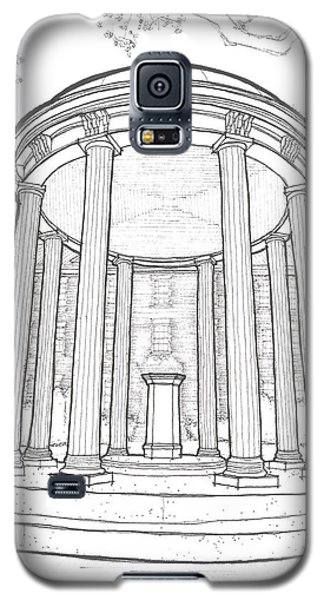 Galaxy S5 Case featuring the drawing U N C Old Well by Calvin Durham