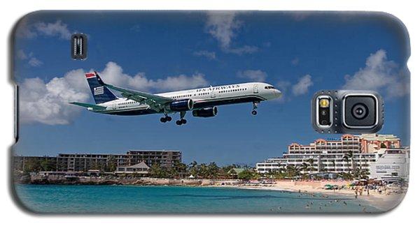 U S Airways Low Approach To St. Maarten Galaxy S5 Case by David Gleeson