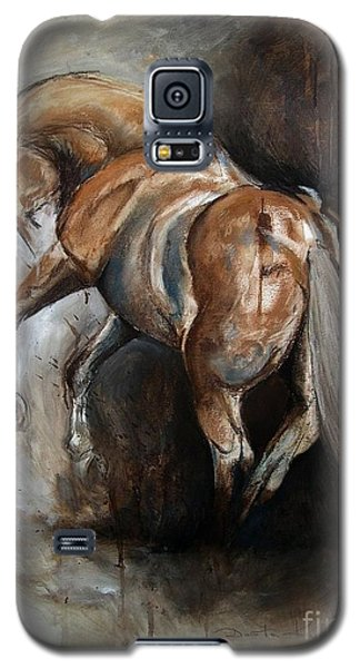 Galaxy S5 Case featuring the painting Ubreakable by Dorota Kudyba