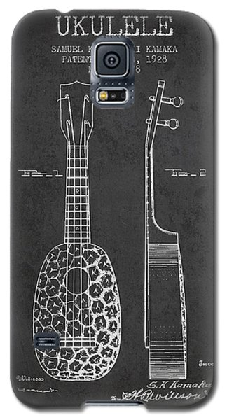 Ukulele Patent Drawing From 1928 - Dark Galaxy S5 Case