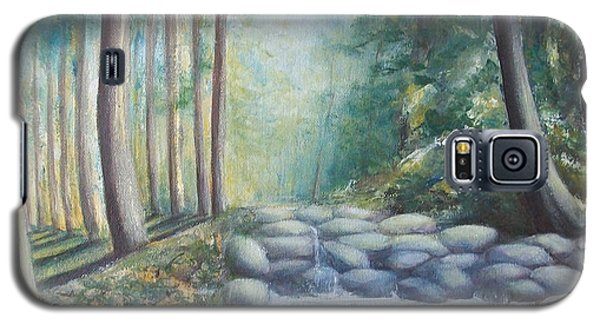 Galaxy S5 Case featuring the painting Ulu Bendul by Jane  See