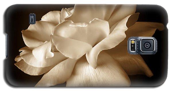 Umber Rose Floral Petals Galaxy S5 Case