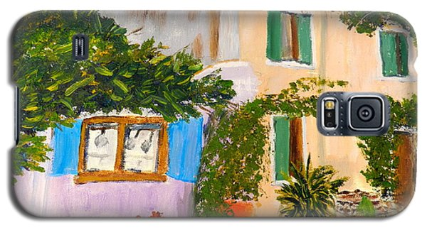 Galaxy S5 Case featuring the painting Umbera Courtyard by Pamela  Meredith