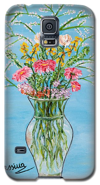 Galaxy S5 Case featuring the painting Un Segno by Loredana Messina