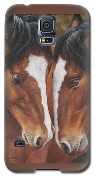 Galaxy S5 Case featuring the painting Unbridled Affection by Kim Lockman
