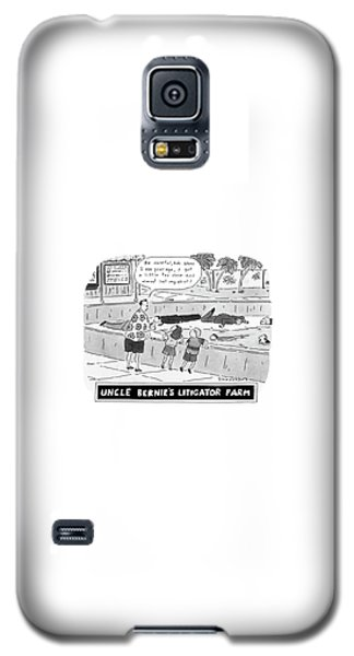 Alligator Galaxy S5 Case - Uncle Bernie's Litigator Farm Be Careful by Danny Shanahan