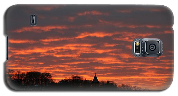 Galaxy S5 Case featuring the photograph Under A Blood Red Sky by Neal Eslinger