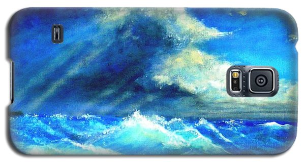 Galaxy S5 Case featuring the painting Under Currents by Marie-Line Vasseur