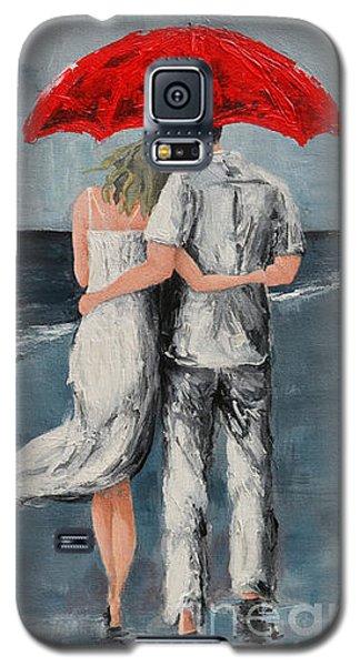Under Our Umbrella - Modern Impressionistic Art - Romantic Scene Galaxy S5 Case