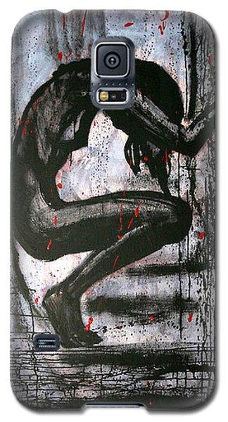 Galaxy S5 Case featuring the painting Under Pressure by Jarmo Korhonen aka Jarko