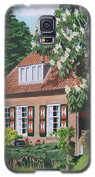Galaxy S5 Case featuring the mixed media Under The Chestnut Tree by Constance Drescher