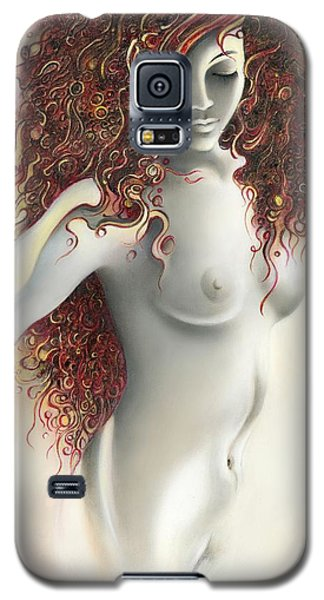 Galaxy S5 Case featuring the painting Under The Cover by Anna Ewa Miarczynska