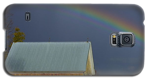 Galaxy S5 Case featuring the photograph Under The Rainbow by Alice Mainville