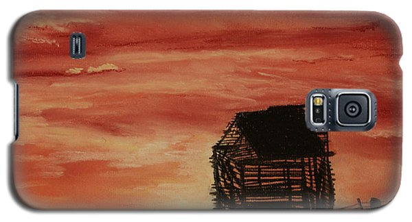Galaxy S5 Case featuring the painting Under The Sunset by Stanza Widen