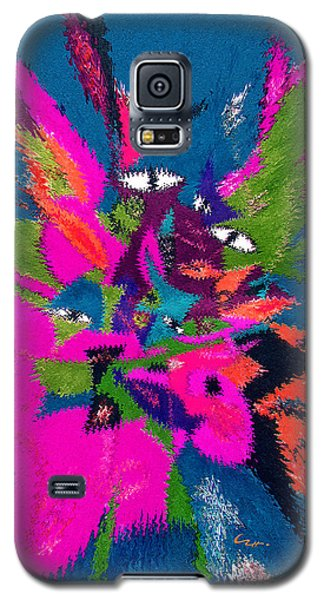 Galaxy S5 Case featuring the mixed media Underwater Feline by Carl Hunter