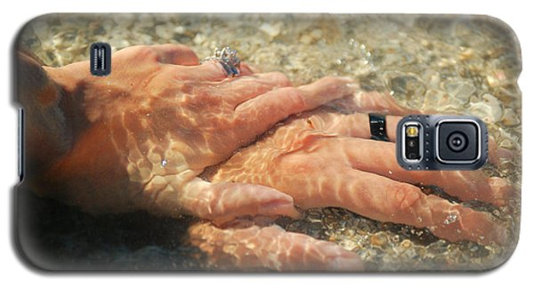 Galaxy S5 Case featuring the photograph Underwater Hands by Leticia Latocki