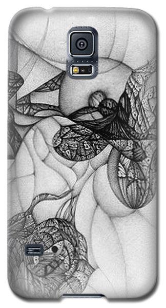 Galaxy S5 Case featuring the drawing Undesignated Ballpoint Image Number 7 by Jack Dillhunt