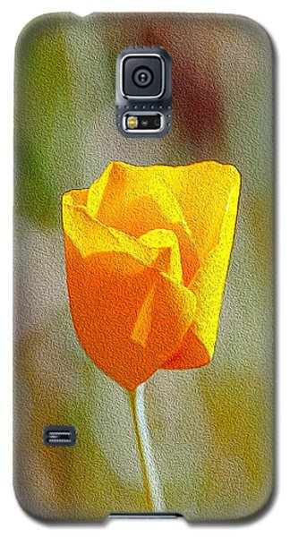 Galaxy S5 Case featuring the photograph Unfolding Poppy by William Havle
