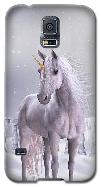 Unicorn In The Snow Galaxy S5 Case