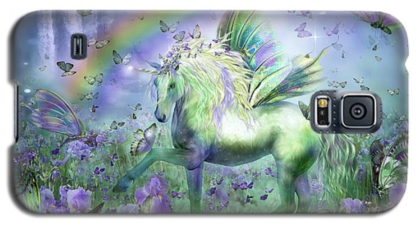 Unicorn Of The Butterflies Galaxy S5 Case by Carol Cavalaris